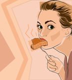 Eating girl Royalty Free Stock Images