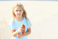 Eating girl Royalty Free Stock Photography
