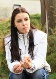 Eating girl stock photography