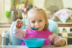 Eating girl Stock Photos