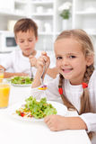 Eating healthy breakfast stock photos