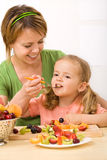 Eating healthy is delicious and fun Stock Photo