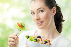Eating healthy food Royalty Free Stock Images