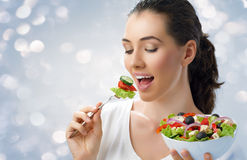 Eating healthy food Royalty Free Stock Photography