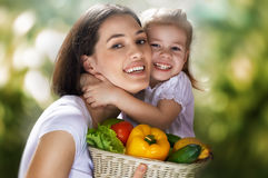 Eating healthy food Stock Photo