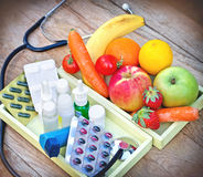 Eating healthy food - Health depends on your diet Stock Image
