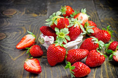 Eating Healthy Food - Organic Strawberries Stock Image