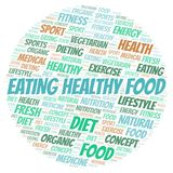 Eating Healthy Food word cloud. Wordcloud made with text only royalty free illustration