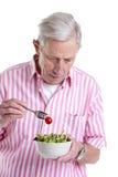Eating a healthy salad royalty free stock photo