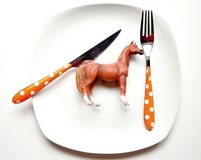 The problem with eating horse meat Royalty Free Stock Image
