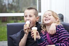 Eating Ice-cream Stock Photos