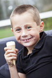 Eating ice-cream Royalty Free Stock Image