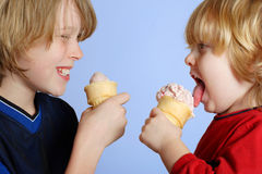 Eating Ice Cream Royalty Free Stock Photos