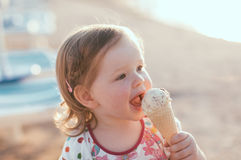 Eating ice-cream Royalty Free Stock Photos