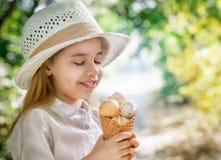 Eating ice cream Stock Photo