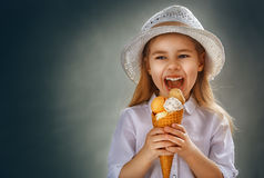Eating ice cream Royalty Free Stock Image