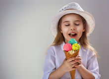 Eating ice cream Stock Photos