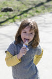 Eating ice cream Stock Photos
