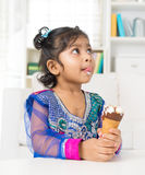 Eating ice cream. Royalty Free Stock Image