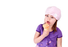 Eating icecream Stock Images