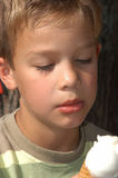 Eating an icecream. Boy eating an icecream Stock Images