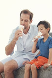 Eating icecream together Stock Photography