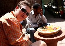 Eating injera Royalty Free Stock Image