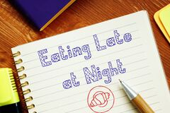 Eating Late at Night inscription on the sheet