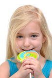 Eating Lollipop Stock Image