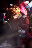 Eating at the market, Myanmar Stock Photography