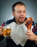 Eating meat Stock Photography