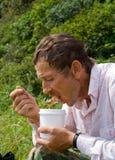 Eating men 3 Royalty Free Stock Image