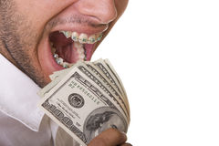 Eating money Royalty Free Stock Photos