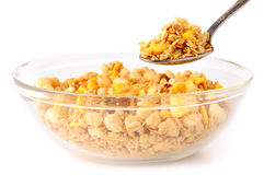 Eating muesli Royalty Free Stock Photos