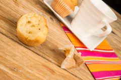 Eating a muffin Royalty Free Stock Photo
