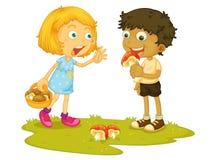 Eating mushroom Stock Image