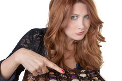Eating my favourite chocolate Stock Photography