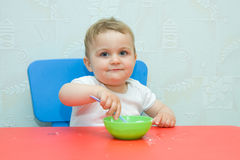 Eating by myself Royalty Free Stock Images