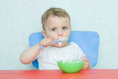 Eating by myself Stock Photography
