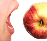 Eating Of Apple. Royalty Free Stock Images