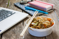 Eating at office Royalty Free Stock Photography