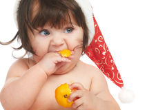 Eating orange Royalty Free Stock Photography