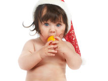 Eating orange Stock Photography