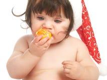 Eating orange Stock Photos