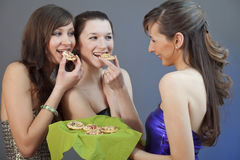 Eating Party Snacks Royalty Free Stock Images