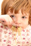 Eating pasta Stock Photos