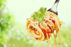 Eating Pasta Royalty Free Stock Photo