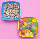 Eating Pills Like Candy Royalty Free Stock Photo