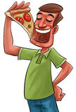 Eating pizza Royalty Free Stock Images