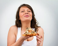 Eating Pizza Royalty Free Stock Photos